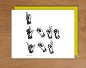 i love you / sign language