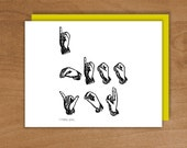 items similar to i miss you sign language on etsy