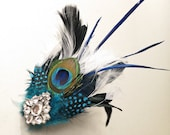 Reserved for Diana- peacock bridal fascinator