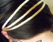 Brown and white acrylic headband