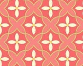Sanibel by Heather Mulber Peterson for Henry Glass Coral Floral Mosiac 1 yard