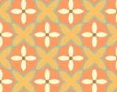 Sanibel by Heather Mulber Peterson for Henry Glass Tangerine Floral Mosaic 1 yard
