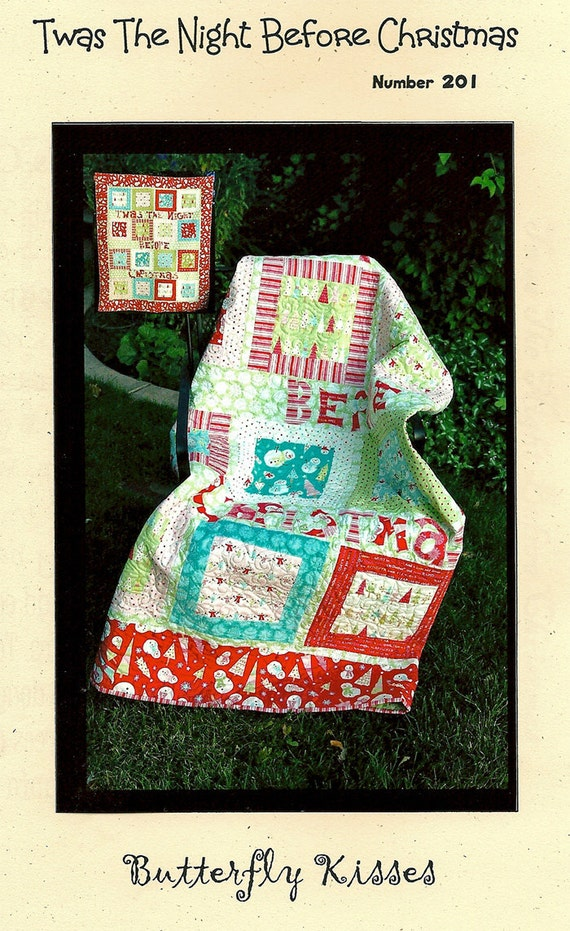 Twas the Night Before Christmas Quilt Kit by by ladybugquiltshop