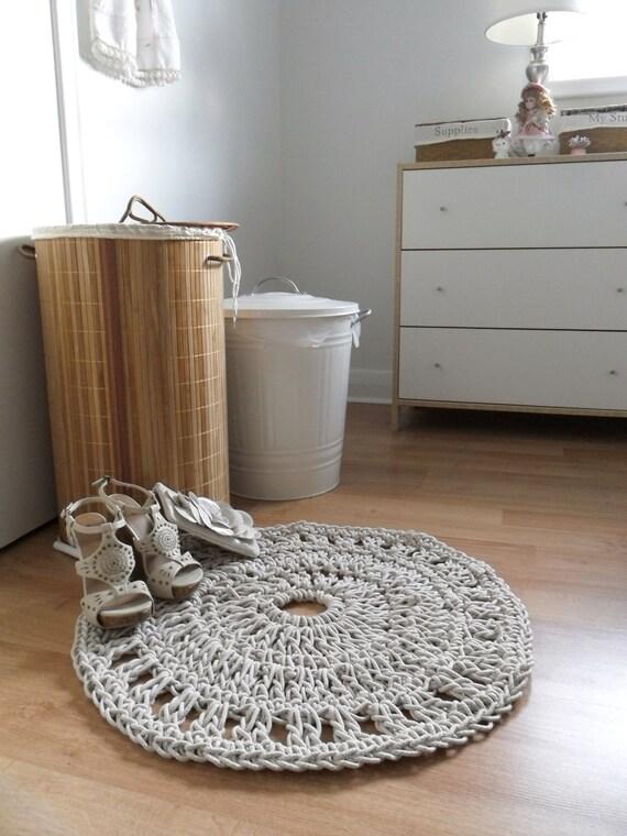 Ручной вязания ковров ковров круглый канат Потертый Chic Главная Отделка