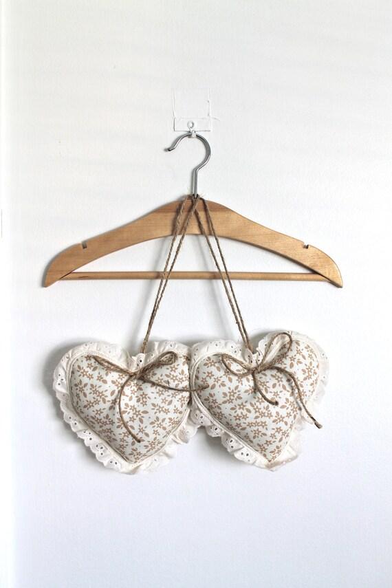 Сердце Подушки Потертый Chic Страна Примитивные декора нейтральный декор дома