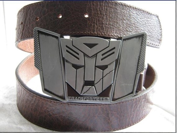 Mens Real Leather Belt real leather unisex Transformers belt  buckle with an oil lighter inside Worldwide Free Shipping