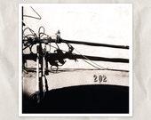 black cables photography, 8x8 print, architecture detail, city art, old doors decor, bllack white, shadow art, industrial decor travel photo