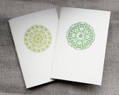 mandala notebook 4x6, set of 2, green, lime, circle, white, cream,  blank, eco, journal, sketchbook, jotter, mini, library, teacher gift