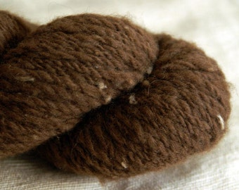HAZELNUT Handspun All-Natural Shetland Yarn - 140 yds