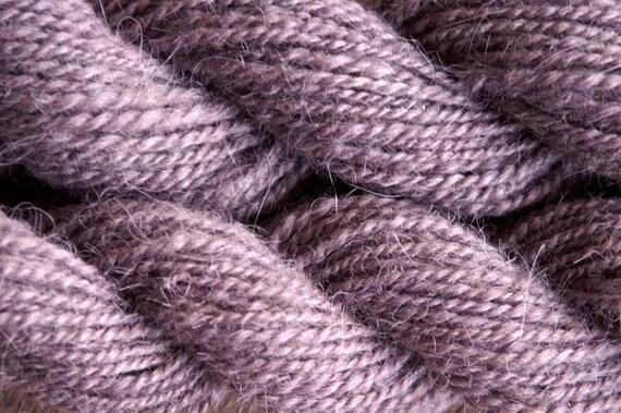 DUSTY ORCHID Handspun Hand-dyed Llama/Wool Yarn - 142 yds