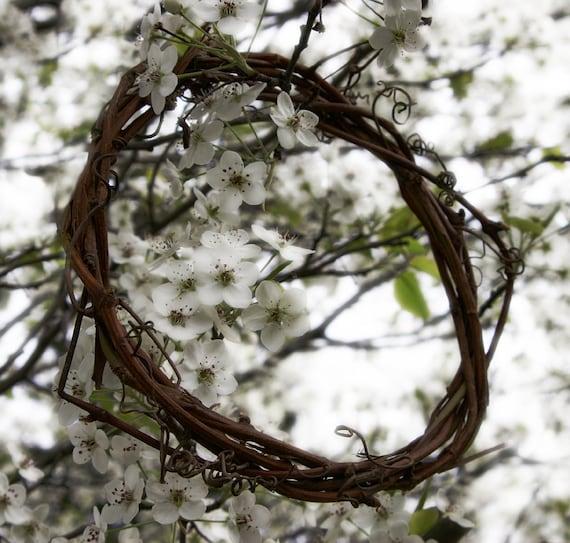 "8"" HANDMADE All-Natural Organic Grapevine Wreath"