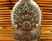 Vintage Balinese Repousse Sterling Masterpiece Bracelet
