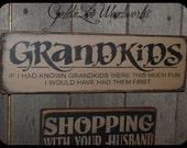 Primitive, Folk Art ,Grandkids Wall Sign