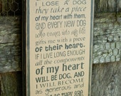 It Came To Me, Primitive Wood Wall Sign, Dog, Word Art, Typography