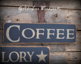 Primitve Style COFFEE Pine wood sign