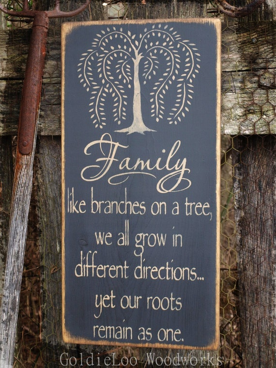 Family, Primitive Wood Wall Sign, Word Art