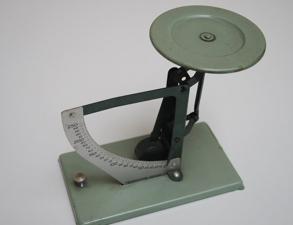 Vintage French Weigh Scales - Sage Green