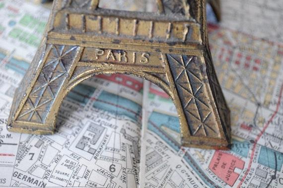 Eiffel Tower, Paris - Vintage Metal Model
