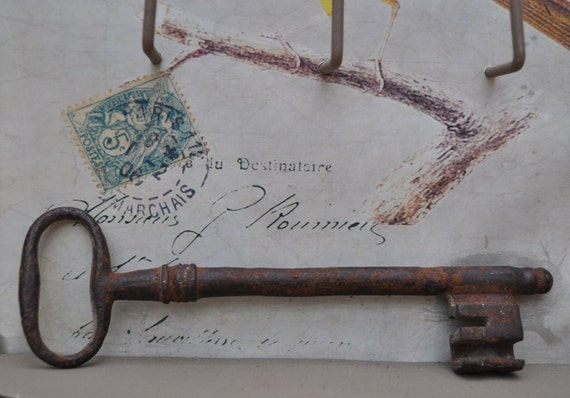 Large Antique French Key - The Key to the Library
