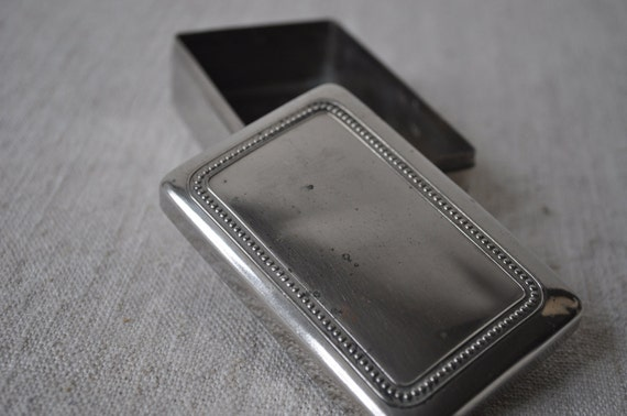 Small Silver Box with Beaded Decoration