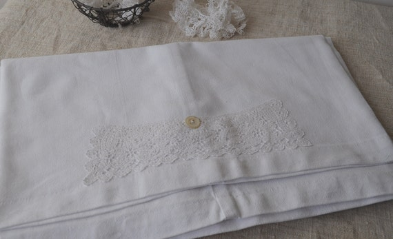 Antique French Linen Bolster Pillow Cover