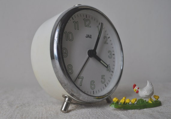 Vintage French Alarm Clock in Original Box - Jaz - Cream