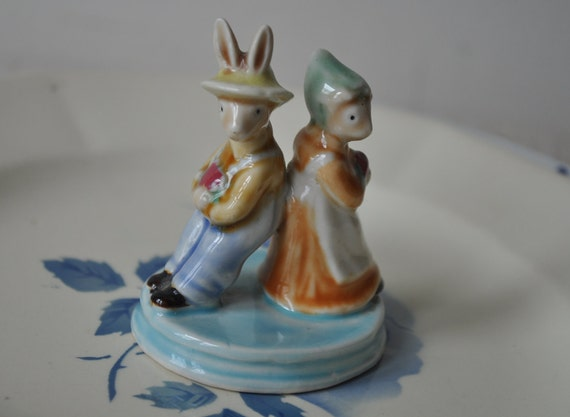 Ceramic Figurine - Country Rabbits