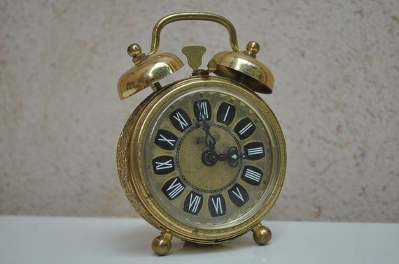 Small Vintage Alarm Clock - Decor Only