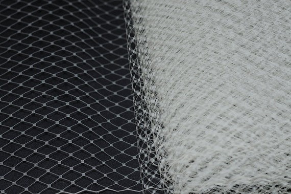 IVORY Russian Netting - 9 inch - for Birdcage veil, DIY Project,