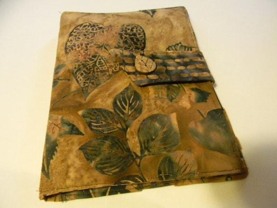 Brown Leaf Batik Kindle  Keyboard, Kindle Fire Cover