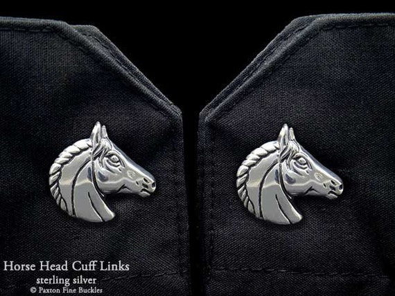 Horse Head Cuff Links Sterling Silver