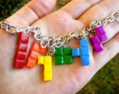 Tetris Rainbow Charm Bracelet