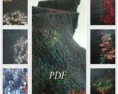 PDF Tutorial Felted wool scarf using Nuno felting technique in English