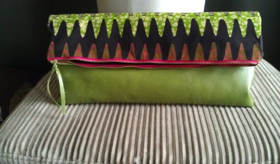Oversized Tribal Print Candice Clutch