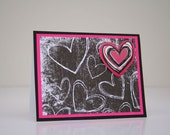 Valentine's Day Card- Chalkboard Hearts