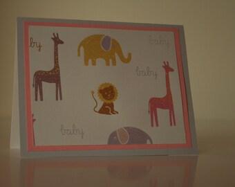 Baby Girl Card - Baby Animals