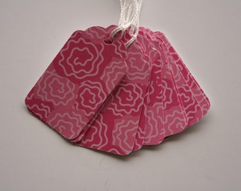 Pink Rose Gift Tags (10)