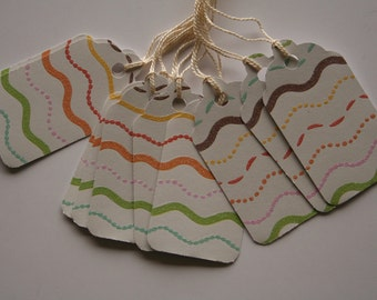 Wavy Stripes Gift Tags (10)
