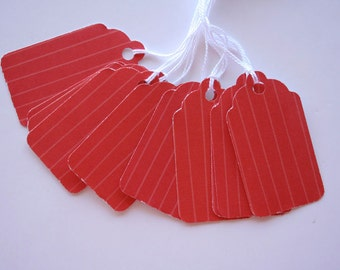 Red Striped Gift Tags (10)
