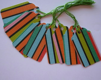 Colorful Stripes Gift Tags (10)