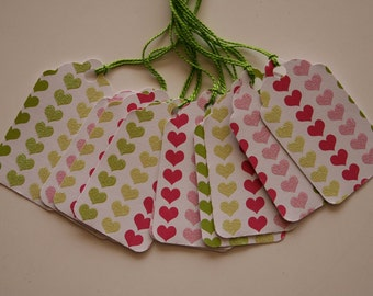 Glitter Hearts Gift Tags (10)