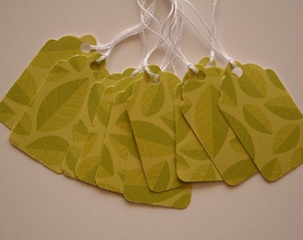 Green Leaves Gift Tags (10)
