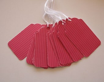 Pink Striped Gift Tags (10)