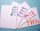 6 Letterpress Note-cards