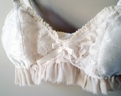 Delicate Silk and Lace Victorian Soft Bra Your size