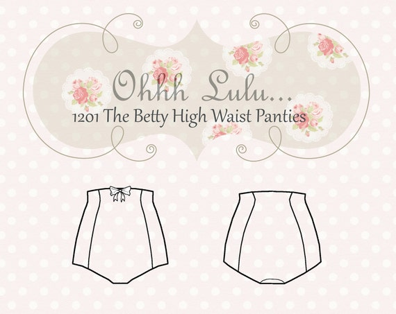Ohhh Lulu The Betty High Waist Panties PDF Sewing Pattern