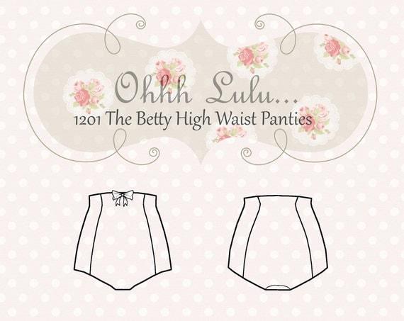 Ohhh Lulu The Betty High Waist Panties PDF Sewing Pattern
