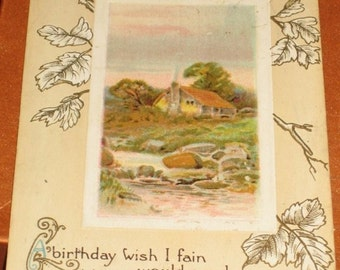 Vintage Birthday Greetings Mrs Smith from Lillie Postcard