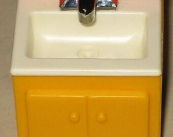 Vintage Fisher Price Dollhouse Sink