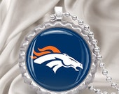 NFL Denver Broncos Bottlecap Necklace with chain FREE SHIPPING All Teams Available